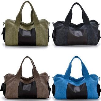 手提包韓版帆布大容量旅行包(黑、咖啡、藍、軍綠)-JC Collection