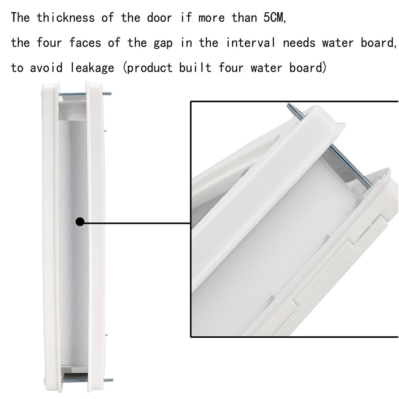 Homdox Large Telescoping Frame Dual Entry Extra Pet Door 3