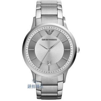 【錶飾精品】ARMANI手錶/ARMANI錶/亞曼尼表 漸層銀面日期 鋼帶男錶 AR2478 全新原廠正品