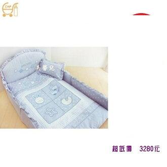 *美馨兒* 東京西川 GMP Baby-[寶貝屋]抗蹣菌七件組/嬰兒床組3280元