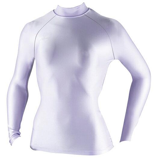 吸汗快乾抗UV伸縮材質  BIOGEAR 女長袖緊身衣a76bs-35067(淺紫)【美津濃MIZUNO】