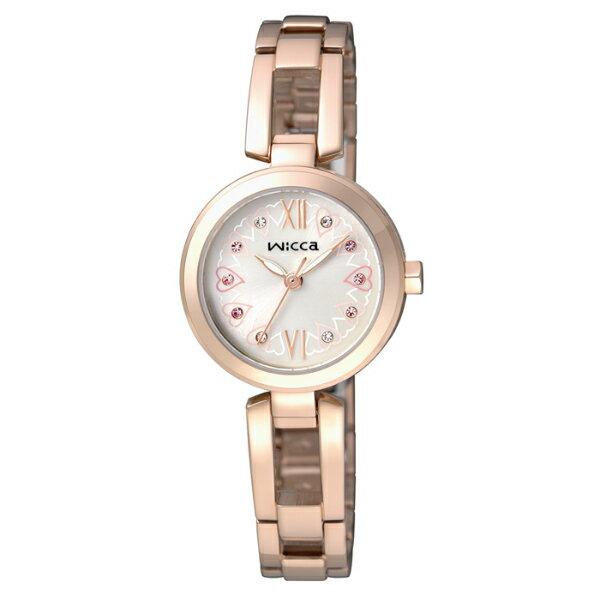 CITIZEN星辰WICCA BG3~929~23 環繞愛戀 腕錶  粉紅面24mm