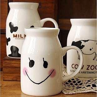 =優生活=zakka雜貨 大號牛奶杯 復古牛奶杯 早餐杯 馬克杯