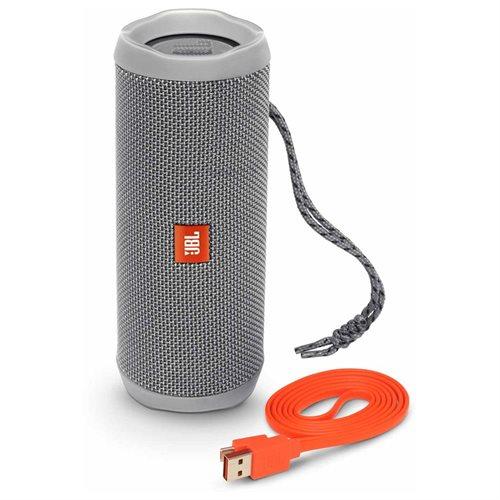 Flip 4 Waterproof Portable Bluetooth Speaker (Gray) 1
