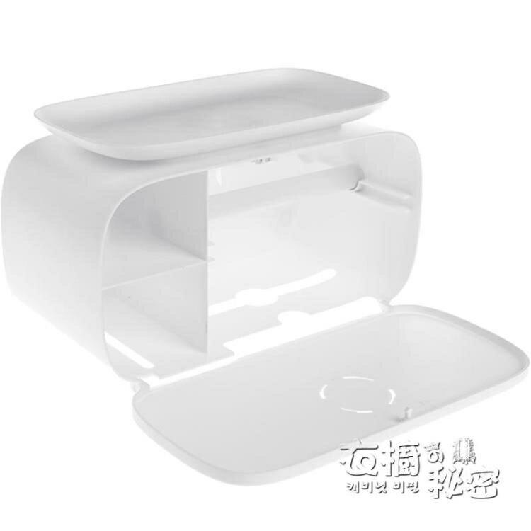 快速出貨 衛生間紙巾盒防水免打孔衛生巾收納廁所壁掛式創意抽紙卷紙置物架