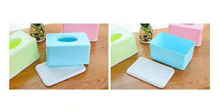 PS Mall 糖果色紙巾盒家用客廳茶几桌面抽紙盒【J008】 3