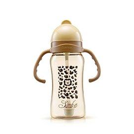 【淘氣寶寶】小獅王 辛巴 Simba PPSU自動把手滑蓋杯/水杯 240ml (豹紋)S8601