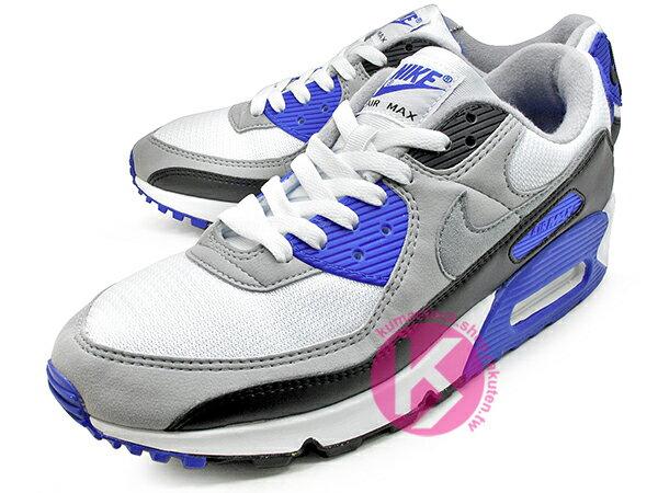 2020 經典復刻慢跑鞋 OG 版型 NIKE AIR MAX 90 白灰黑 寶藍 網布 絨毛面 大氣墊 慢跑鞋 (CD0881-102) 0120 1
