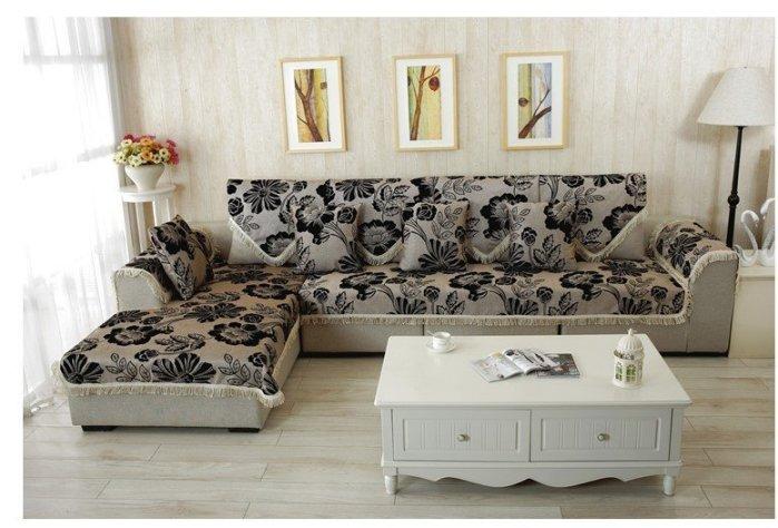 2015 豪美氣派風SF0005-70*150 CM 四季可用棉麻玫瑰花三人座沙發墊/ 坐墊/ 椅墊