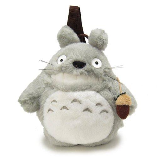 【真愛日本】7060200044 造型後背包S-灰龍貓嘻笑 龍貓 TOTORO 豆豆龍 後背包 包包 提包