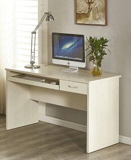 【尚品家具】JF-370-4喬治4尺白木紋電腦書桌