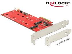 [富廉網] Delock M.2 NGFF SSD x 2的PCI express擴充卡 - 89388