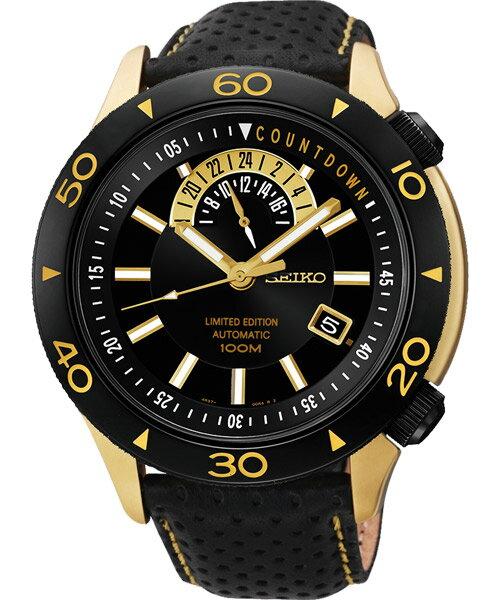Seiko 精工五號 4R37-00V0K(SSA188J1)絕霸機械腕錶/黑面45mm