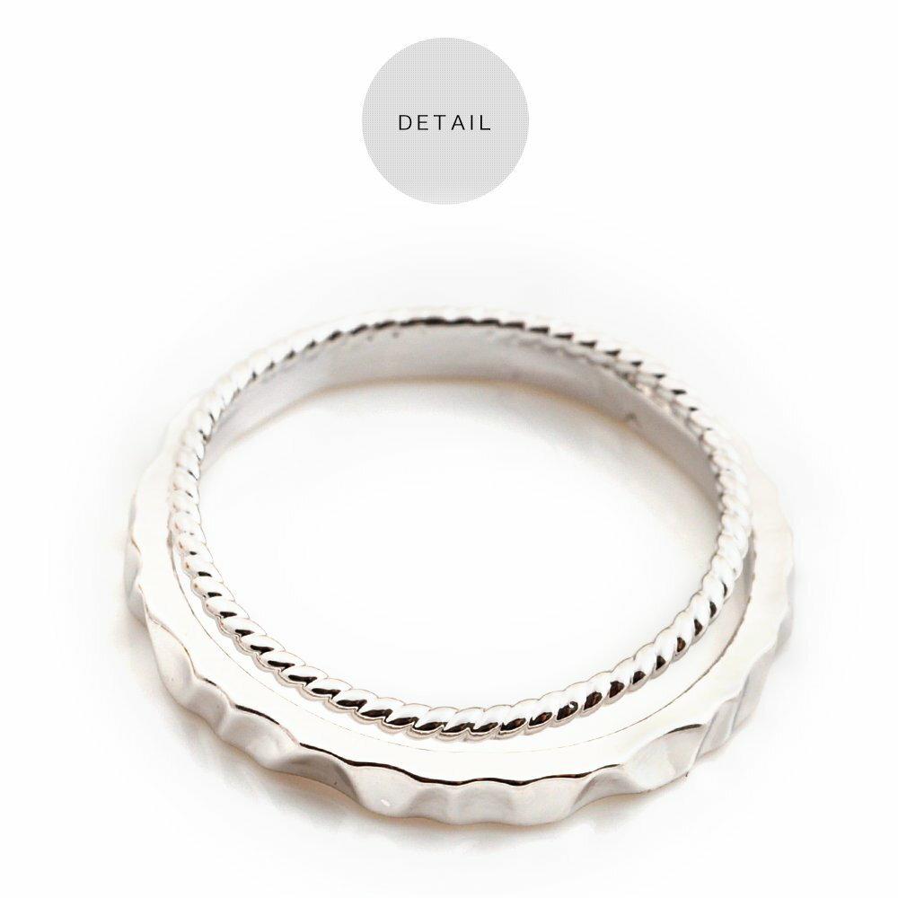 日本CREAM DOT  /  リング 指輪 アクセサリー 11号 2連 デザイン シンプル メタル ゴールド シルバー 重ねづけ 華奢 ひねり オフィス カジュアル プレゼント 小物 ギフト 大人 レディース 女性  /  qc0422  /  日本必買 日本樂天直送(990) 4