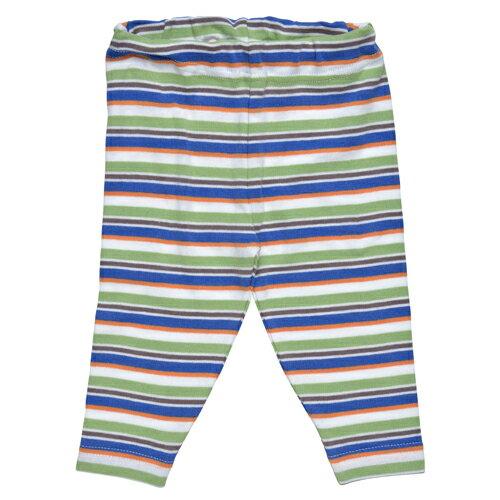 【好優Hoyo】美國Under The Nile有機棉休閒長褲(藍綠彩紋)  ~6-9個月