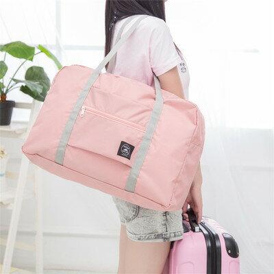 旅行包 旅行包手提女短途輕便可折疊帆布收納包待產旅遊大容量行李包袋