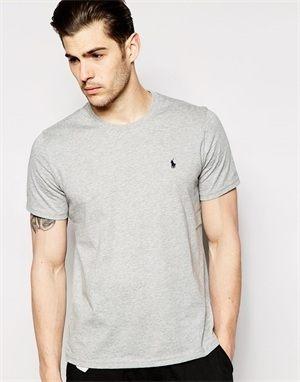 【蟹老闆】POLO Ralph Lauren 青年版 LOGO素T 簡約風格 輕鬆穿搭 灰色 男女可穿