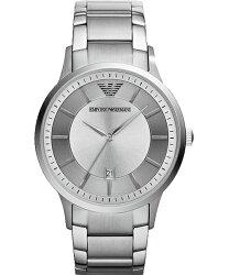 EMPORIO ARMANI 亞曼尼 AR2478簡約紳士時尚腕錶/白面43mm