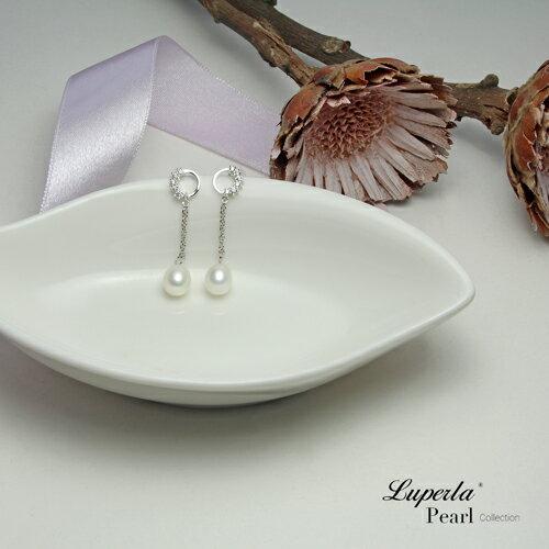 大東山珠寶 璀璨圓舞曲 天然淡水珍珠純耳環 3
