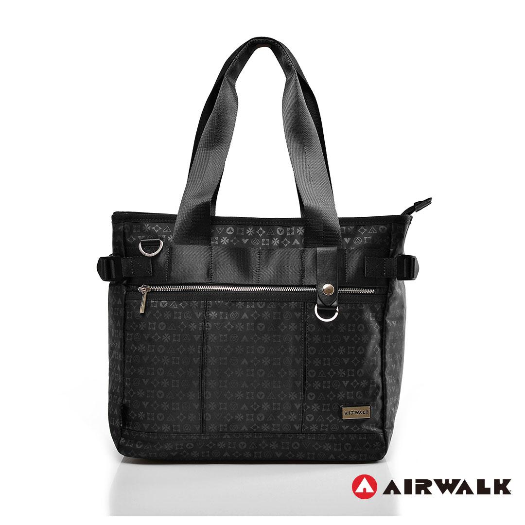 AIRWALK街頭系列-邁阿密圖騰系列肩背包《黑》