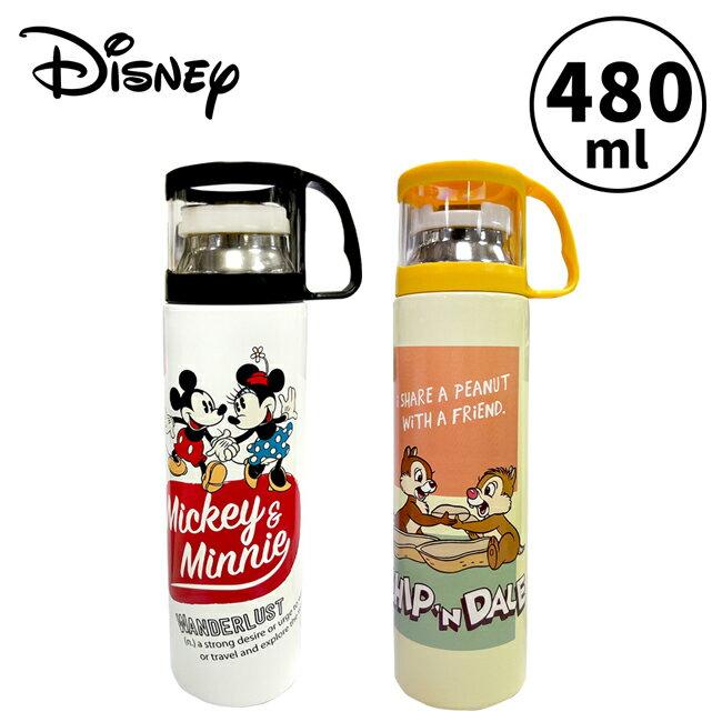 【正版授權】迪士尼 杯蓋型 保溫瓶 480ml 不鏽鋼保溫瓶 隨身瓶 保冷瓶 水壺 米奇 米妮 奇奇蒂蒂