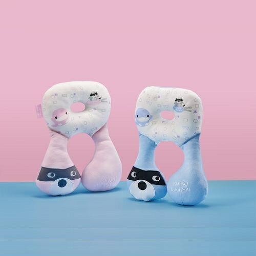 KUKU酷咕鴨 3D雙面透氣護頸枕(極光藍 柔光粉)KU2088★愛兒麗婦幼用品★