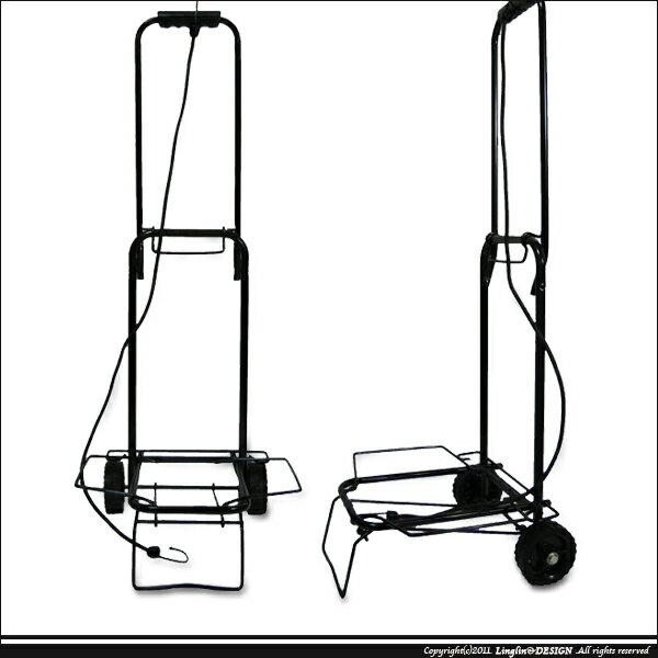 (台灣製) 手拉車/手推車/登機箱手推車/折疊式購物車(小輪)