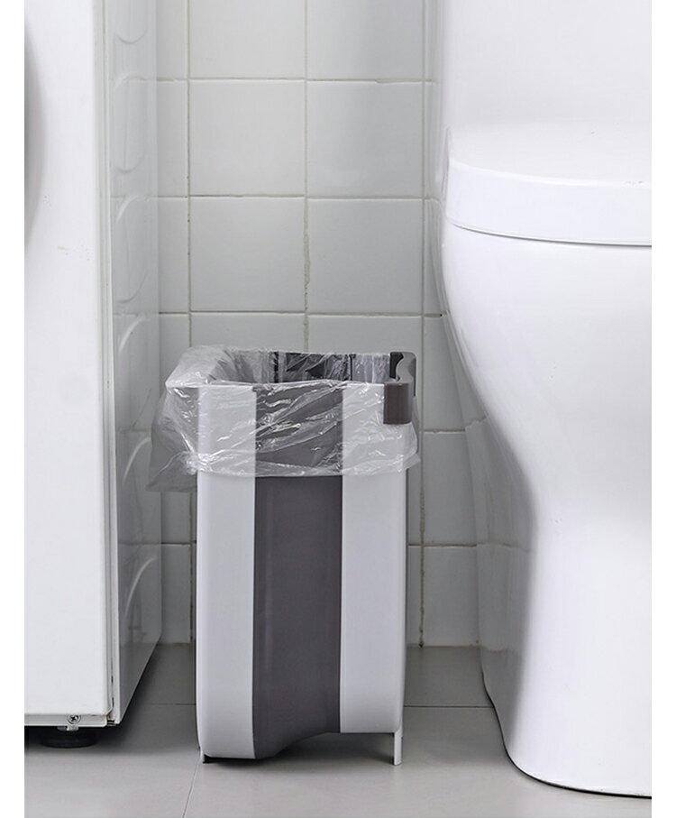 創意廚房折疊垃圾桶 掛式垃圾桶 置物盒 收納籃 收納多用途 2