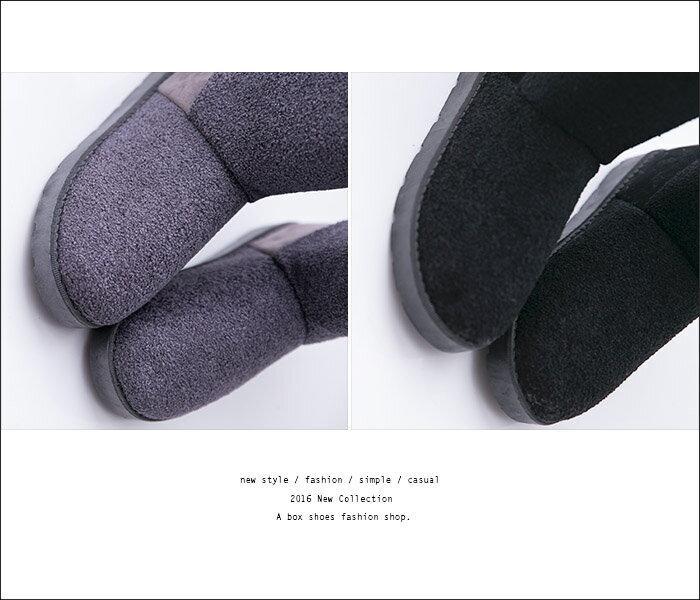 格子舖*【AR8015-1】熱賣暖呼呼厚毛料 可愛俏皮後蝴蝶結 毛呢麂皮 防滑膠底短筒雪地靴 雪靴 2色 3
