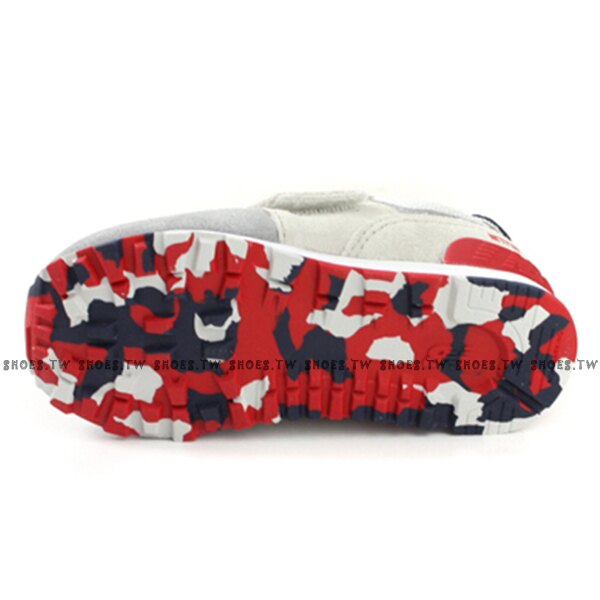 Shoestw【IV574UJD】NEW BALANCE NB574 運動鞋 黏帶 小童鞋 Wide 灰藍紅 2