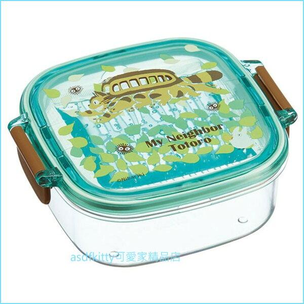 asdfkitty可愛家☆TOTORO龍貓塑膠便當盒附保冷劑-320ML-早餐盒水果盒保鮮盒-日本製