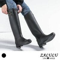 ZALULU JK015 預購 防水高筒修身搭扣雨鞋