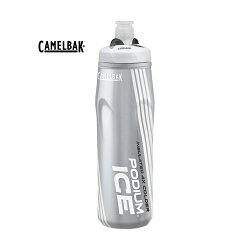 美國Camelbak 620ml  Podium ICE酷冰保冷噴射水瓶 雪白-CB1302101062