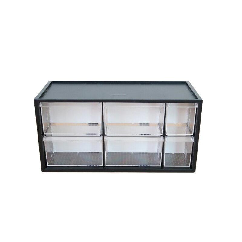 樹德零件分類箱6格抽屜文具飾品小物收納箱書桌收納盒A9-506-大廚師百貨