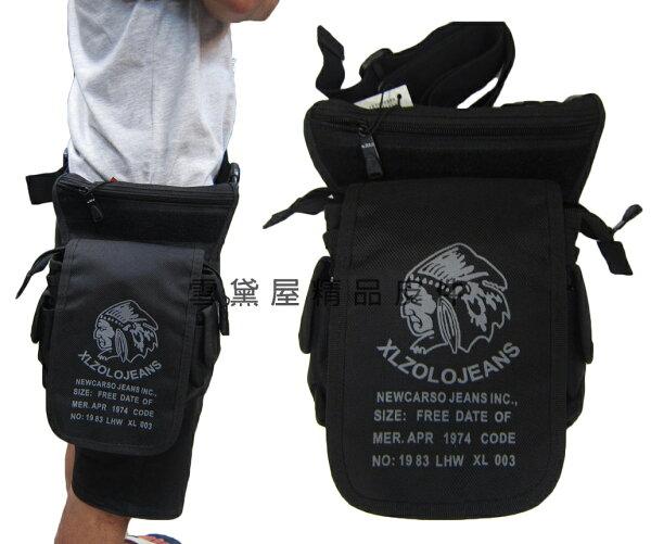 ~雪黛屋~ZOLO腿包腰背式腿包隨身物品專用包隨身工作工具袋型男隨身包防水尼龍布材質S014-2456