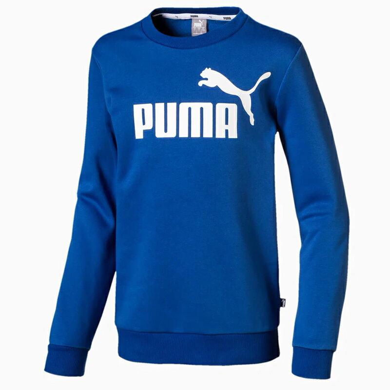 【滿額最高折318】PUMA Essentials 童裝 大童 長袖 休閒 基本 百搭 修身 藍【運動世界】 85211039