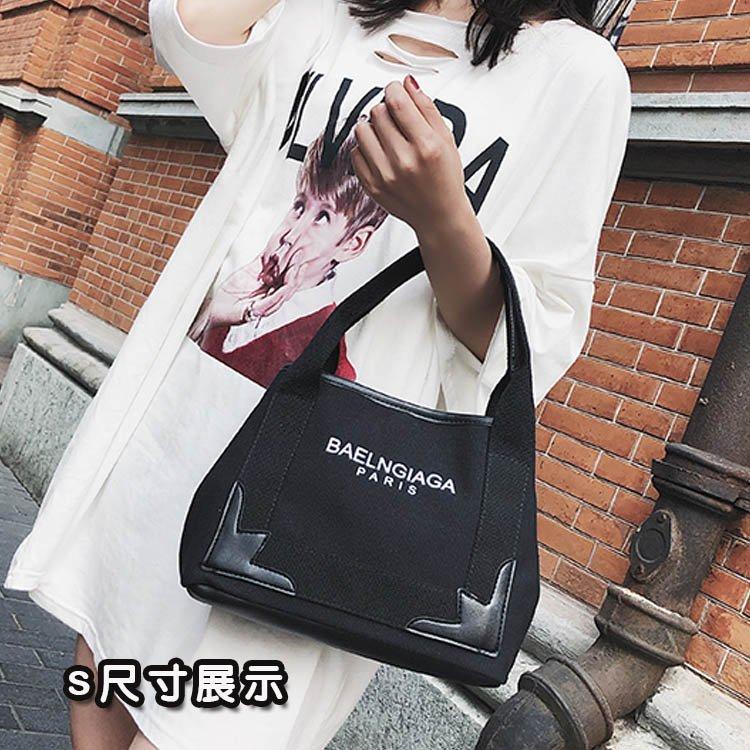 帆布包-大包包新款歐美明星同款帆布包單肩包斜背包側背包大容量手提包 2