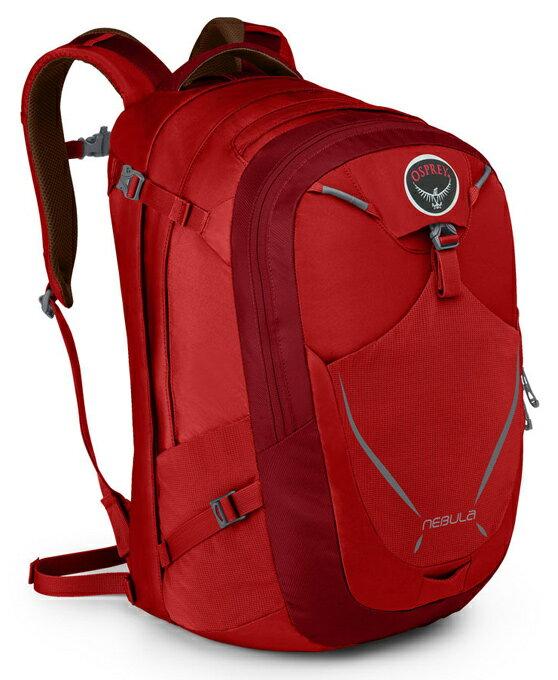 Osprey  美國  NEBULA 34 電腦背包《男款》/15吋筆電背包 城市背包 旅行背包 -艷麗紅/Nebula34 【容量34L】