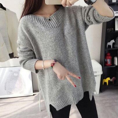 針織毛衣 領口一字織紋設計針織毛衣 4色【1500400】LYNNSHOP 0
