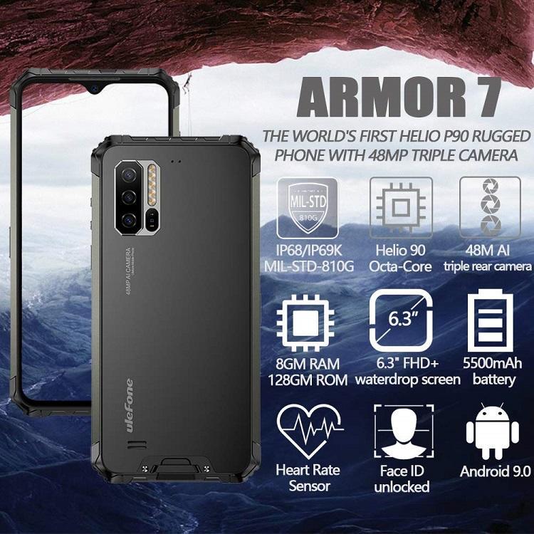 Ulefone Armor 7 三防機 雙卡 手機 5500電池 IP68/69K軍規防護 無線充電 NFC