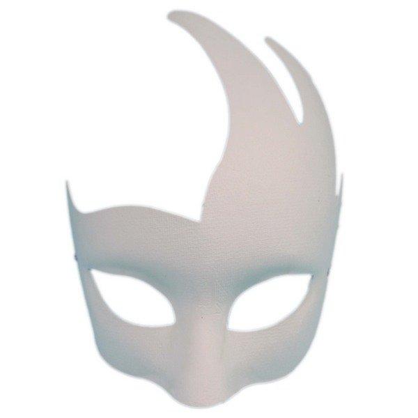 火焰半罩面具 彩繪面具 附鬆緊/一袋20個入(定40) 空白面具 空白眼罩 DIY面具 紙面具 紙漿面具-AA3965B