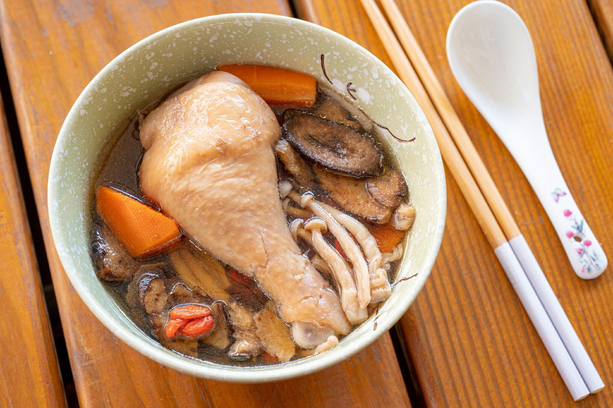 ★新品上市★ 單人份雞湯 : 牛蒡精靈菇雞湯 500g  10%