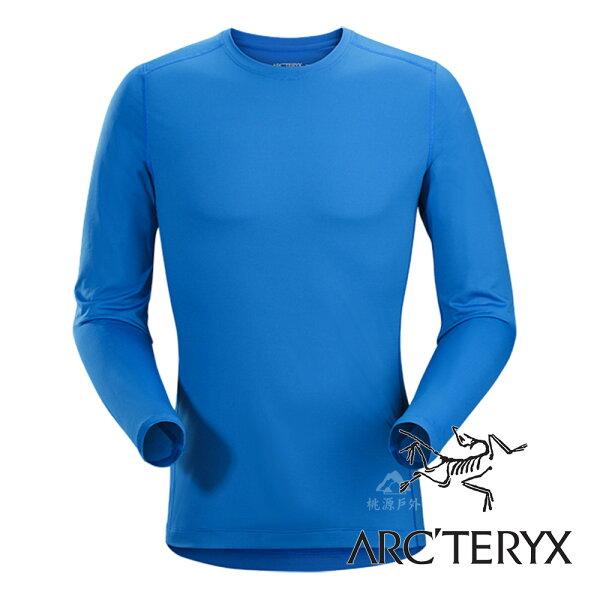 桃源戶外登山露營旅遊用品店:【Arc'teryx始祖鳥】男PhaseSL輕量內層圓領衫『參宿藍』L068617機能衣│套頭衫