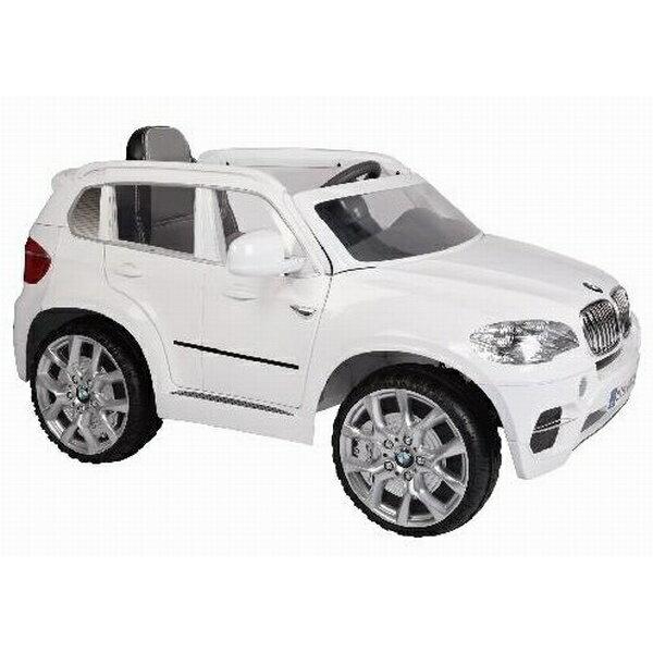 【淘氣寶寶】原廠授權 寶馬 BMW X5 雙馬達可開門 兒童電動車 標準版 (白色)【加贈膳魔師悶燒罐 SK3000】