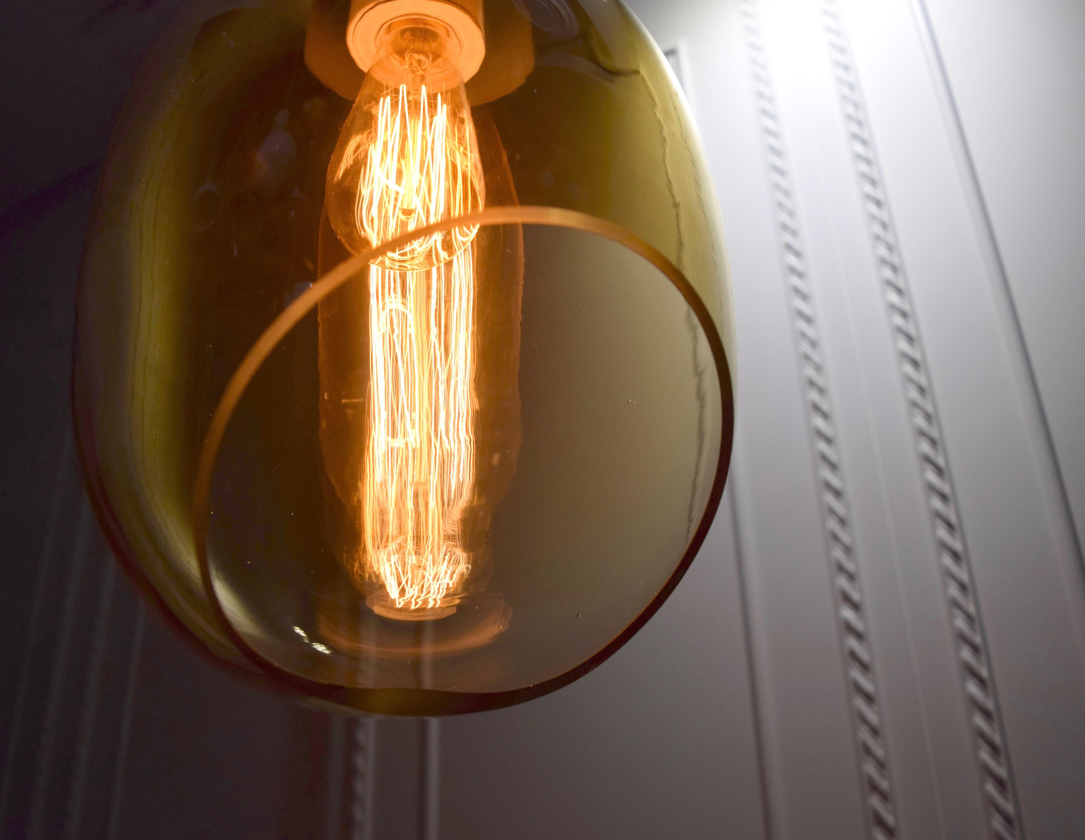 VESSEL 斜口玻璃琥珀色吊燈-BNL00126 2