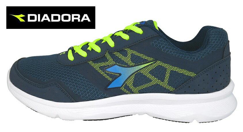 【巷子屋】義大利國寶鞋-DIADORA迪亞多納 男款2E寬楦乳膠動能輕彈慢跑鞋 [5176] 藍 超值價$1024