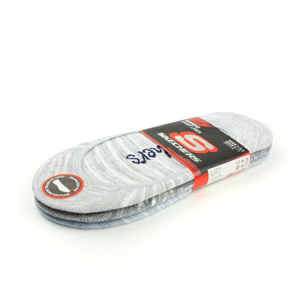 【全店點數40倍】SKECHERS 襪子三入 淺灰/深灰/藍色 船型襪 noA18