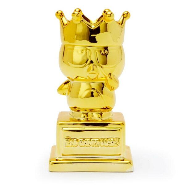 X射線【C053805】酷企鵝BadBadtz-maru陶製存錢筒-皇冠,撲滿錢筒儲蓄罐存錢罐悶葫蘆罐聚財神器存錢筒