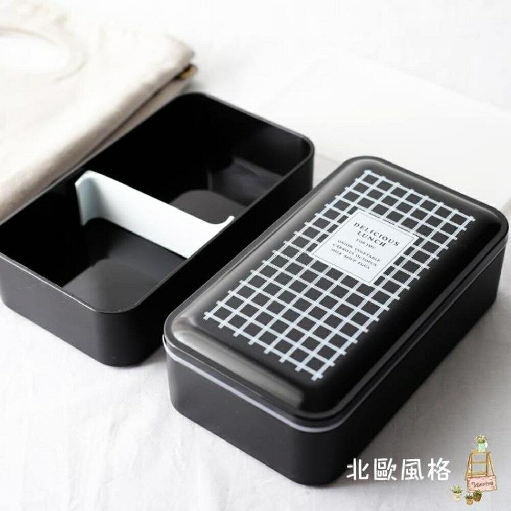 便當盒吉樂島雙層帶蓋便當盒日式分格壽司盒微波爐餐盒學生飯盒保鮮盒