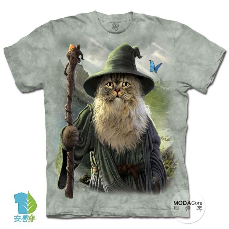 摩達客-預購-美國進口The Mountain 貓道夫 純棉環保藝術中性短袖T恤